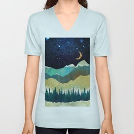 Snowy Night Unisex V-Neck