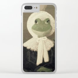 Madame Froggy Clear iPhone Case