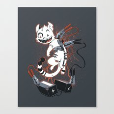 Cybercat Charges Up Canvas Print