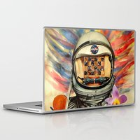 nasa Laptop & iPad Skins featuring NASA Messed Me Up by Collage Calamity