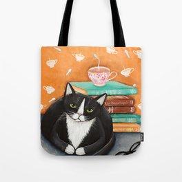Cats, Tea, and Books Tote Bag
