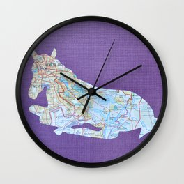 Filly Map Wall Clock