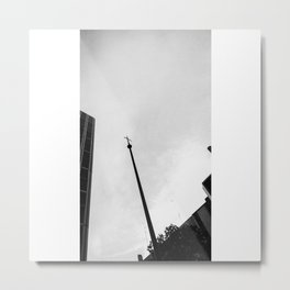 Pointing Metal Print