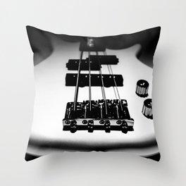 Bass Lines Throw Pillow