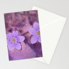 Purple Spring Flowers Stationery Cards