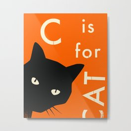 C is for CAT Metal Print