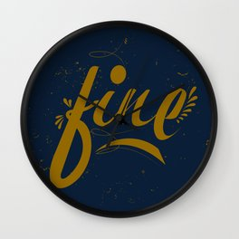 Fine & Dandy Wall Clock
