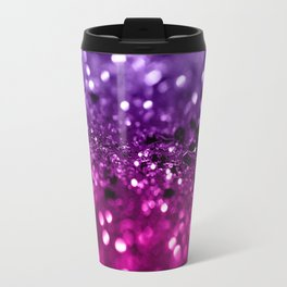 Pink Purple Lady Glitter #1 #shiny #decor #art #society6 Travel Mug