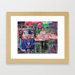 Crockery Seller Framed Art Print