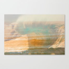 Pipeline vs. California St. Tags: Ventura, California, surf white, foam, surfing, surfer, tube, wave Canvas Print