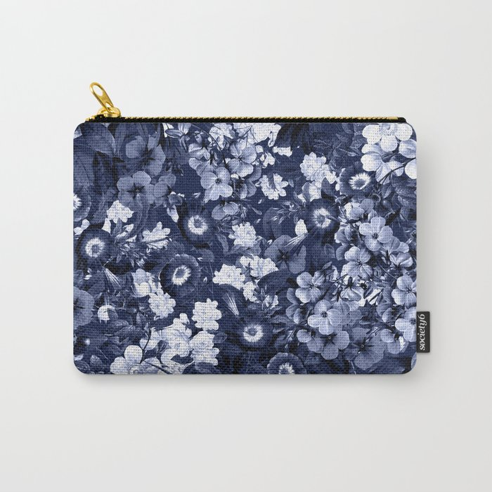 Bohemian Floral Nights in Navy Carry-All Pouch
