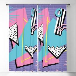 Memphis Pattern 57 - 80s - 90s Retro / 2nd year anniversary design Blackout Curtain