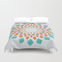 gem Duvet Covers featuring Gem Wheel by zazuka