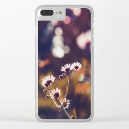 Tiny floral dreams of light Clear iPhone Case