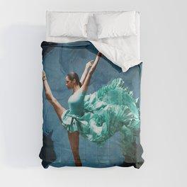 -O1- Blue Ballet Dancer Deep Feelings. Comforters