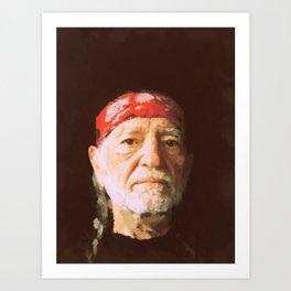 Willie Nelson Art Print
