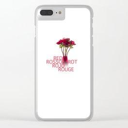 Anemoni Rossi Clear iPhone Case