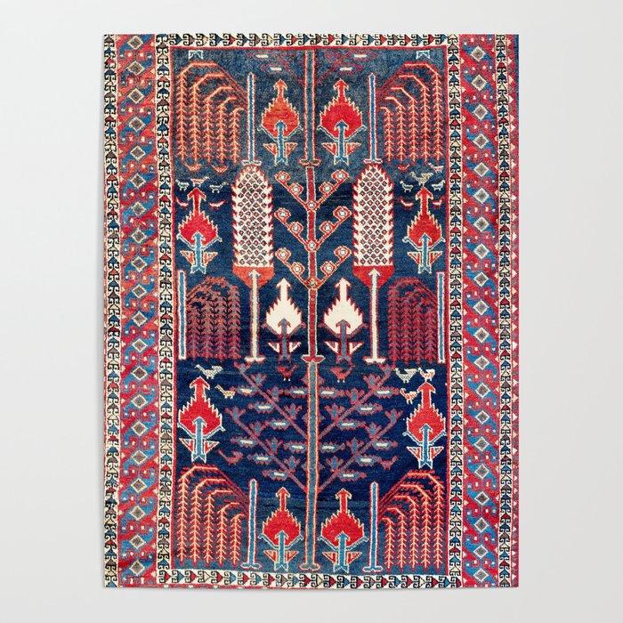 Luri Bakhtiari West Central Persian Rug Print Poster