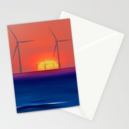 Windmills to the Sun Stationery Cards