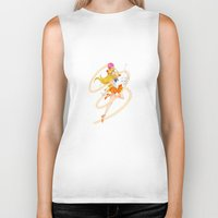 sailor venus Biker Tanks featuring Sailor Venus  by Moonsia