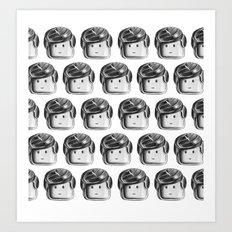 Minifigure Pattern Art Print