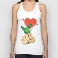 shinee Tank Tops featuring SHINee - Punch, Drunk, Love (White) by Jelly KJar