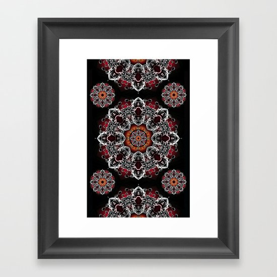 Power Mandala Framed Art Print