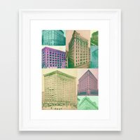 buildings Framed Art Prints featuring Buildings by Sarah Brust