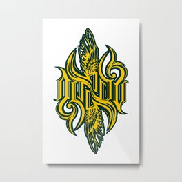 Angel 3K ambigram Metal Print
