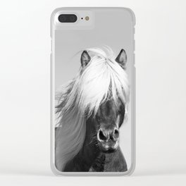Portrait of a Horse in Scotish Highlands Clear iPhone Case
