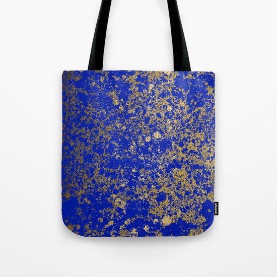 Royal Blue and Gold Patina Design by purposelydesigned
