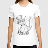edgar allan poe T-shirts featuring Mrs. Edgar Allan Poe by Rene Robinson