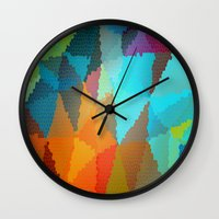 stained glass Wall Clocks featuring Stained Glass  by Latidra Washington