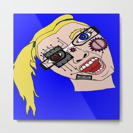 Cyborg teenager Metal Print