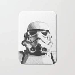 Stormtrooper Dotwork - Pointillism Fan Artwork Bath Mat