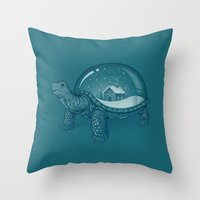 globe Throw Pillows featuring Home Sweet Home by Enkel Dika