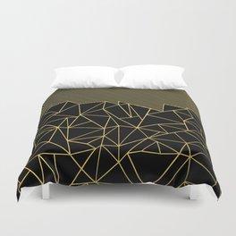 Ab Lines 45 Gold Duvet Cover