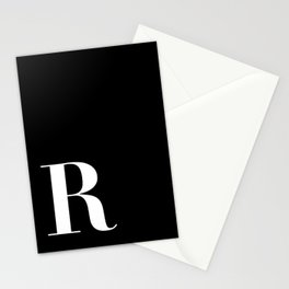 Initial R Stationery Cards
