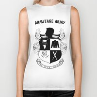 army Biker Tanks featuring Armitage Army by Circus Doll