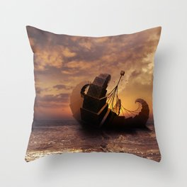 A Ship for All Destinations Throw Pillow