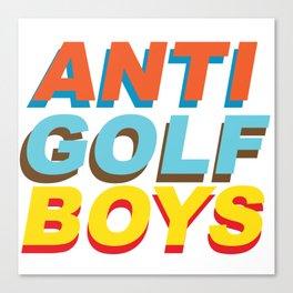 Anti golf boys Canvas Print