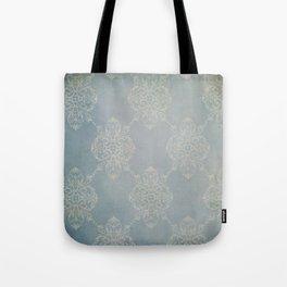 Vintage Damask - Faded Indigo Blue Tote Bag