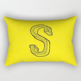 S Sketch Rectangular Pillow