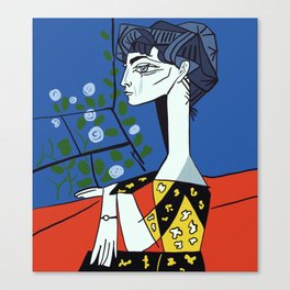 Picasso - Jacqueline with flowers Canvas Print
