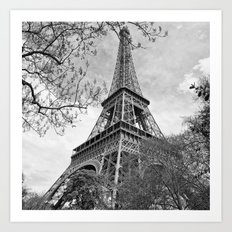 Eiffel Tower Panorama Art Print