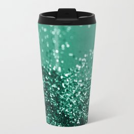 Sparkling EMERALD Lady Glitter #1 #shiny #decor #art #society6 Travel Mug