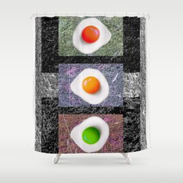 Hedge 'n' eggs 01 Shower Curtain