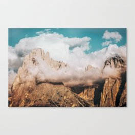 Mountains in Clouds.  Nature Landscape Photography Canvas Print