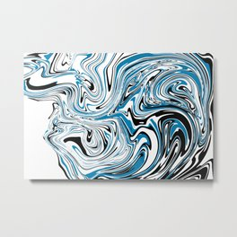 Abstract Marble Topographic map Metal Print