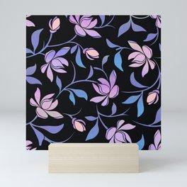 Magnolia Flower Pattern Mini Art Print
